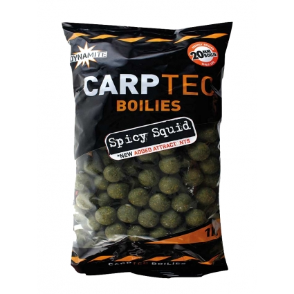 DYNAMITE BAITS CarpTec SPICY SQUID 20mm 2kg